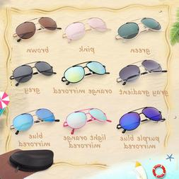 a24fcc490484 Aviator Sunglasses For Kids Boys Girls Baby Children Toddler