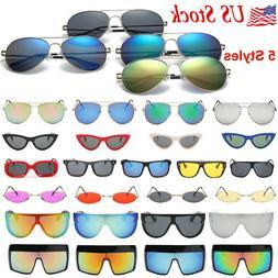 Aviator Sunglasses for Women Men Round Vintage Sports Drivin