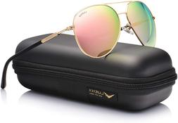 aviator sunglasses for women polarized mirror w
