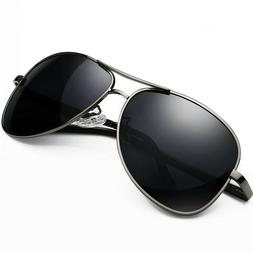 Aviator Sunglasses Pilot Cop Vintage Black New Men Women Fas