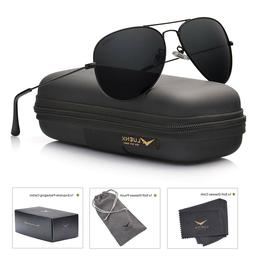 LUENX Aviator Sunglasses Polarized For Men Women With Sun Gl