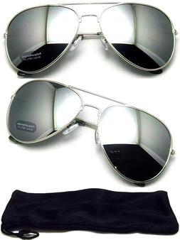 Aviator Sunglasses Vintage Mirror Lens New Men Women Fashion