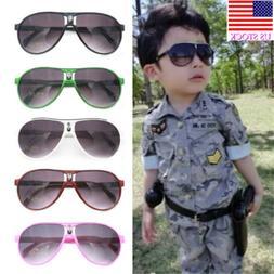 Baby Boys Girls Sunglasses Plastic Frame Goggles Toddler Kid