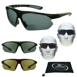 BIFOCAL Sunglasses Sport Sun Readers Golf Semi Rimless Men W