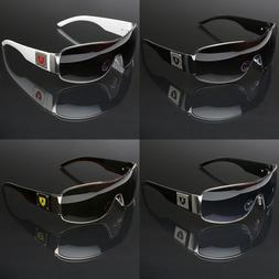 Big Oversized Men's Sport Pilot Shield Retro Sunglasses Larg