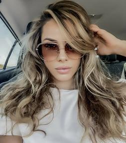 "BIG  ""TALON"" OVERSIZED Women Sunglasses Aviator Metal Clamps"