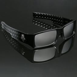 Black Bold Locs Square Men Mirrored Super Dark Sunglasses Ch