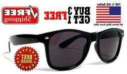 BLACK CLASSIC 80s VINTAGE RETRO DESIGNER STYLE DARK LENS SUN