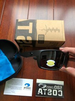 COSTA DEL MAR Black/Gray Reefton POLARIZED 580P Sunglasses W