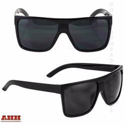BLACK Oversized Large XL Big Sunglasses Kim Square Flat Avia