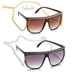Black Snooki Sunglasses Long Chain Women GaGa Glasses Jersey