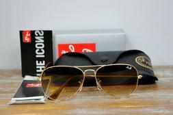 Brand New Ray-Ban Aviator Sunglasses RB3025 001/51 Gold Fram