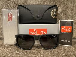 NEW Ray-Ban RB4165 Justin 622/T3 54MM Black/Gray Gradient PO