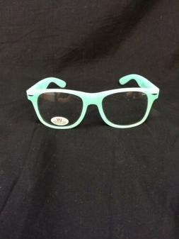 Branded Glow in The Dark Party Club Neon Green Glasses Clear