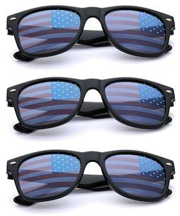 BULK 6PC LOT KIDS USA Flag Lens Retro Square Patriotic Sungl