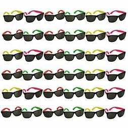 Funny Party Hats Neon Sunglasses- 36 Pack - Bulk Sunglasses