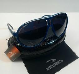 Carrera Men & Women's Blue&WhiteRetro Sunglasses+Carrera Cas