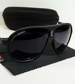 Carrera Men & Women's Matte Black Retro Sunglasses +Clamshel