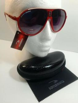 Carrera Men & Women's Red&WhiteLine Sunglasses+Carrera Case