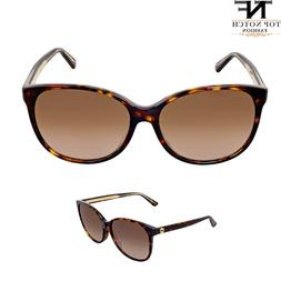 Gucci Cat Eye Asia Fit Havana Frame Brown Gradient Ladies Su