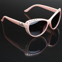 Cat Eye Kids Girls Rhinestone Fashion Ladies Sunglasses Chil
