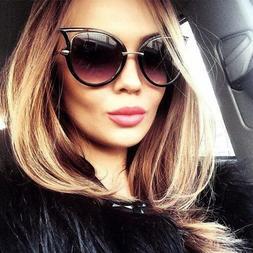 Cat Eye Oversized Fashion Style Women Sunglasses Gradient Le
