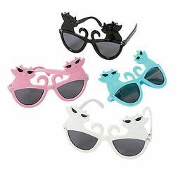 Cat Novelty Sunglasses - Apparel Accessories - 12 Pieces