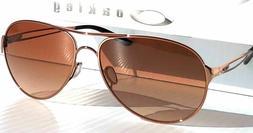 Oakley Women's Caveat Aviator Sunglasses,Rose Gold Frame/Bro