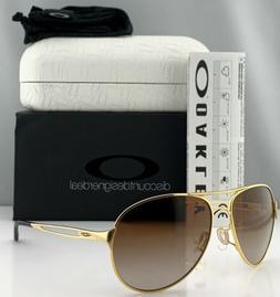 Oakley Caveat Aviator Sunglasses OO4054-07 Gold Metal Frame