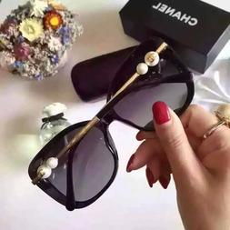 CHANEL CH 5339 Pearl Black/Gold Polarized Women Sunglasses F