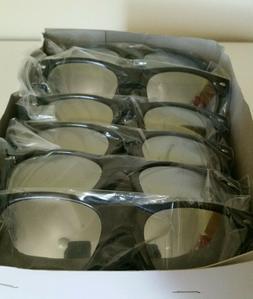 Cheap Bulk Lot 10 of Sunglasses Black Silver Mirror Round Ci