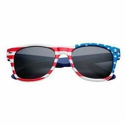 Child Size Kids American USA Flag Sunglasses for Boys and Gi