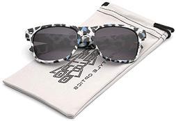 Children Colorful Animal Print Sunglasses Age 6-14 - White &