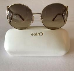Chloe sunglasses Women's 60mm Gold Round Gradient CE124S N