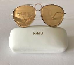 Chloe sunglasses Women's 61mm Gold Oversized CE144S Made I