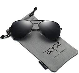 classic aviator polarized sunglasses mirrored