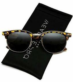 WearMe Pro - Classic Half Frame Polarized Semi-Rimless Rimme