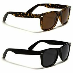 3bb0e0432450 Retro Rewind Classic Polarized Wayfarer Sunglasses 2-Pack Bl