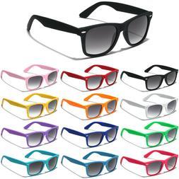 Retro 80s Premium Sunglasses Rubberized Black White Pink Blu