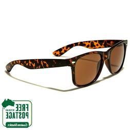 Classic Retro Sunglasses - Tortoise Shell Frame / Brown Lens