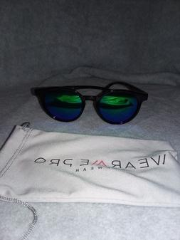 classic small round retro sunglasses black frame