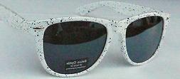 Retro Optix Classic  Sunglasses - white / spot WF 01