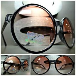 CLASSIC VINTAGE RETRO PARTY Style SUN GLASSES Large Round Bl