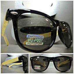 CLASSIC VINTAGE RETRO Style SUN GLASSES Black Frame Real Bam