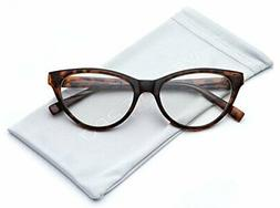 WearMe Pro - Clear Lens Cat Eye Glasses for Women