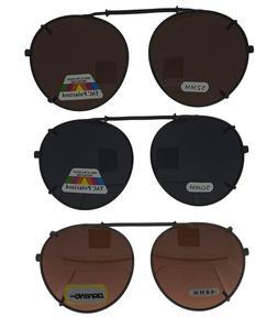 Clip On Sunglasses - Round Frame Glasses - Many Size + Lens