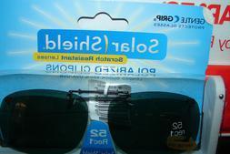 *Solar SHIELD CLIP ON Sunglasses FRAMELESS 52 REC 1