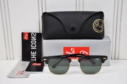 Ray Ban Clubmaster Sunglasses RB3016 W0365 Black Frame G-15