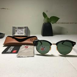 CLUBROUND Polarized Ray-Ban New Sunglasses RB4246 901/58 51