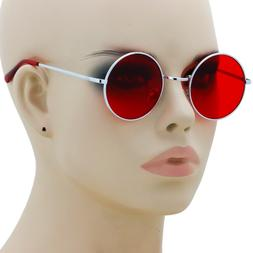 Colorful Women Retro Round Glasses Lens Sunglasses Eyewear M